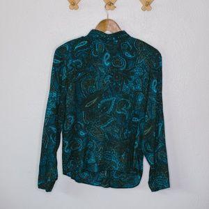Vintage Blue Paisley Necktie Shirt